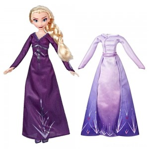 Black Friday - Disney Frozen 2 Arendelle Fashions Elsa Fashion Doll With 2 Outfits