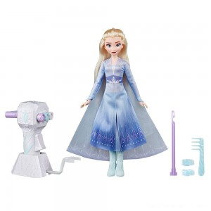Disney Frozen 2 Sister Styles Elsa Fashion Doll With Extra-Long Blonde Hair, Braiding Tool and Hair Clips