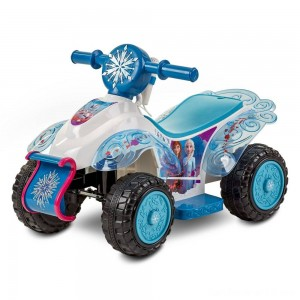 Black Friday - Frozen 2 Kid Trax Sing and Ride Toddler 6V Quad - White