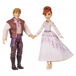 Disney Frozen 2 Anna and Kristoff Fashion Dolls 2pk