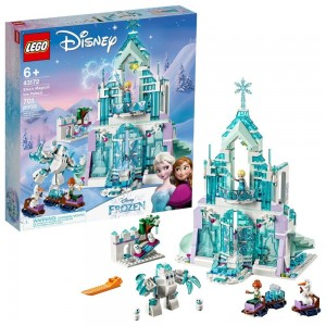LEGO Disney Princess Elsa's Magical Ice Palace 43172 Toy Castle Building Kit with Mini Dolls