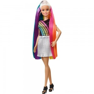 Black Friday - Barbie Rainbow Sparkle Hair Barbie Doll