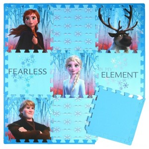 Disney Frozen 2 9pc Tile Foam Interlocking Fitness Mats