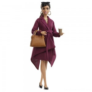 Black Friday - Barbie Signature Styled By Chriselle Lim Collector Doll in Burgundy Trench Dress