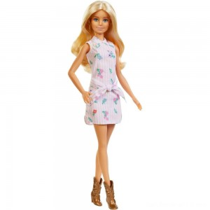 Black Friday - Barbie Fashionistas Doll #119 Pink Shirt Dress