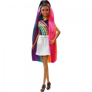 Black Friday - Barbie Rainbow Sparkle Hair Nikki Doll