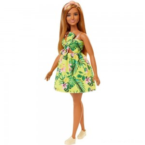 Barbie Fashionistas Doll #126 Jungle Dress