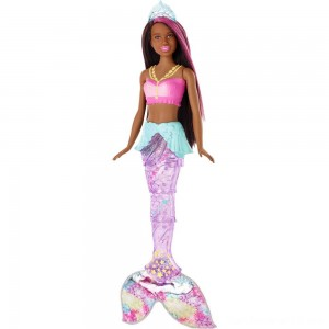 Black Friday - Barbie Dreamtopia Sparkle Lights Mermaid - Brunette