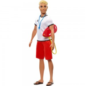 Barbie Ken Career Lifeguard Doll