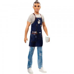 Barbie Ken Career Barista Doll