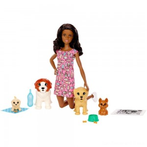 Black Friday - Barbie Doggy Daycare Nikki Doll & Pet