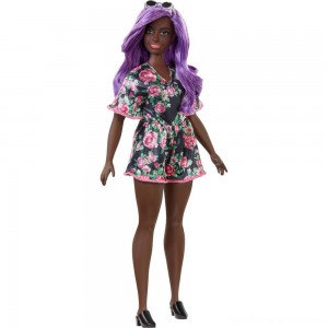 Black Friday - Barbie Fashionistas Doll #125 Black Floral Dress