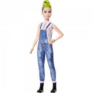 Barbie Fashionistas Doll #124 Green Mohawk
