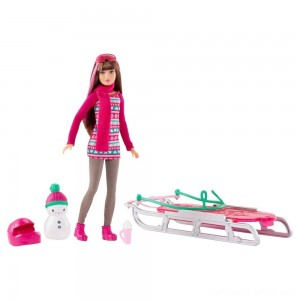 Barbie Sisters' Sledding Fun and Doll Playset