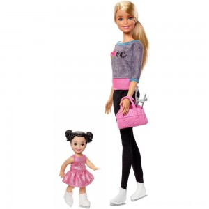 Barbie Ice-skating Coach Dolls & Playset