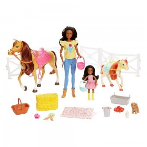 Barbie Hugs 'N' Horses Playset
