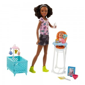 Black Friday - Barbie Skipper Babysitters Inc. Doll and Feeding Playset - Brunette