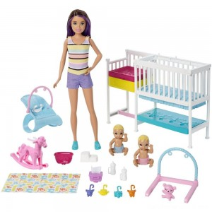 Black Friday - Barbie Skipper Babysitters Inc Nap 'n' Nurture Nursery Dolls and Playset