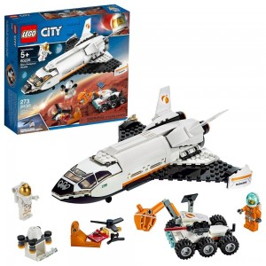 LEGO City Space Mars Research Shuttle 60226 Space Shuttle Toy Building Kit with Mars Rover