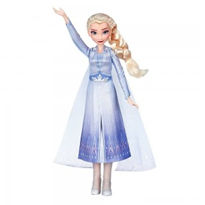 Disney Frozen 2 Singing Elsa Fashion Doll with Music - Blue