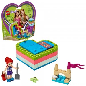 Black Friday - LEGO Friends Mia's Summer Heart Box 41388 Building Kit with Turtle Figure and Mia Mini Doll 85pc