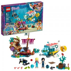 LEGO Friends Dolphins Rescue Mission 41378 Sea Life Building Kit with Toy Submarine and Sea Creatures