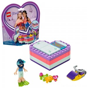 LEGO Friends Emma's Summer Heart Box 41385 Building Kit with Toy Scooter and Mini Doll 83pc
