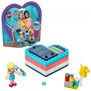 LEGO Friends Stephanie's Summer Heart Box 41386 Portable Toy Building Set, Stephanie Mini Doll 95pc