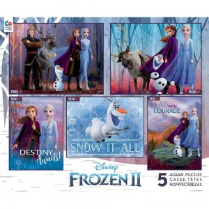 Ceaco Disney Frozen 2 5pk Puzzles 2300pc, Adult Unisex