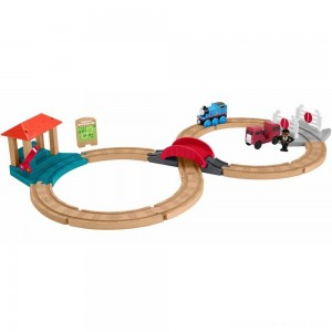 Fisher-Price Thomas & Friends Wood Racing Figure-8 Set
