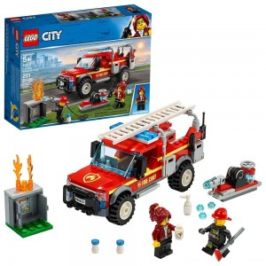 LEGO City Fire Chief Response Truck 60231 Building Set with Toy Firetruck and Ladder 201pc