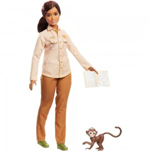 Barbie National Geographic Doll with Monkey