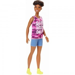 Barbie Fashionistas Doll #128 Good Vibes Only