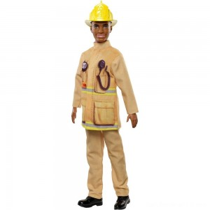 Black Friday - Barbie Ken Career Firefighter Doll
