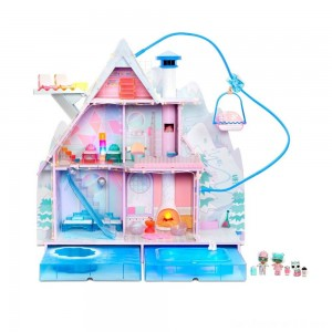 Black Friday - L.O.L. Surprise! Winter Disco Chalet Doll House with 95+ Surprises