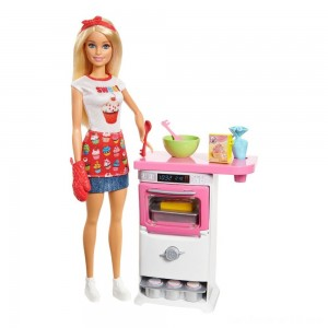 Black Friday - Barbie Careers Bakery Chef Doll and Playset