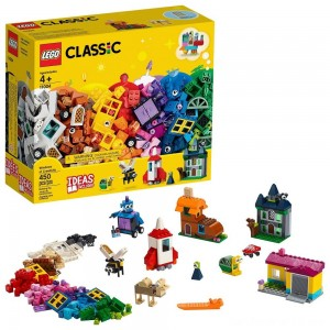 LEGO Classic Windows of Creativity 11004 Building Kit with Toy Doors for Creative Play 450pc