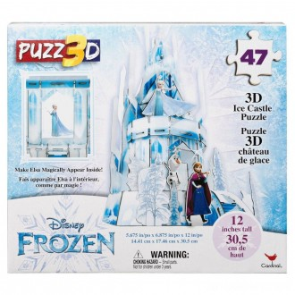 Cardinal Disney Frozen 3D Hologram Ice Castle Puzzle 47pc, Kids Unisex