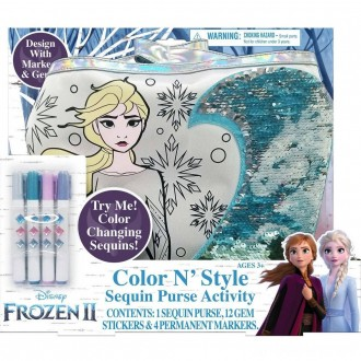 Disney Frozen 2 Color and Style Sequin Purse Activity Set
