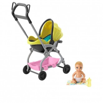 Black Friday - Barbie Skipper Babysitter Inc. Stroller and Baby Playset
