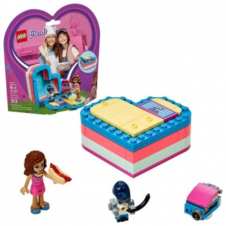 Black Friday - LEGO Friends Olivia's Summer Heart Box 41387 Portable Toy Mini Doll 93pc