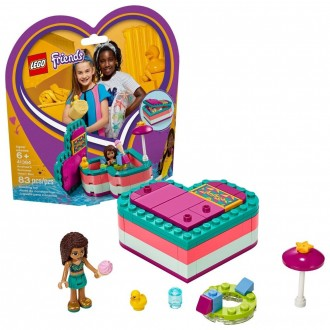 Black Friday - LEGO Friends Andrea's Summer Heart Box 41384 Heart Box Building Set with Andrea Mini Doll Playset 83pc