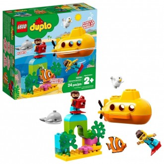 LEGO DUPLO Submarine Adventure 10910 Bath Toy Building Set for Toddlers with Toy Submarine 24pc