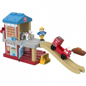 Black Friday - Fisher-Price Thomas & Friends Wood Eco Rescue Firehouse Set