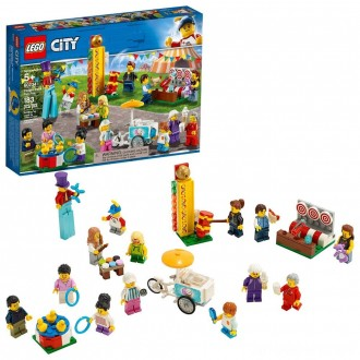Black Friday - LEGO City People Pack - Fun Fair 60234 Toy Fair Building Set with Ice Cream Cart 183pc