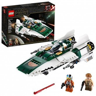 Black Friday - LEGO Star Wars: The Rise of Skywalker Resistance A-Wing Starfighter 75248 Advanced Collectible Starship Model Building Kit 269pc