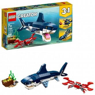 Black Friday - LEGO Creator Deep Sea Creatures Building Kit Sea Animal Toys for Kids 31088