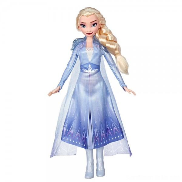 Disney Frozen 2 Elsa Fashion Doll With Long Blonde Hair and Blue Outfit