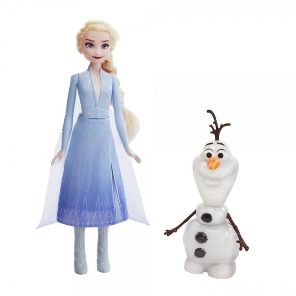 Black Friday - Disney Frozen 2 Talk and Glow Olaf and Elsa Dolls