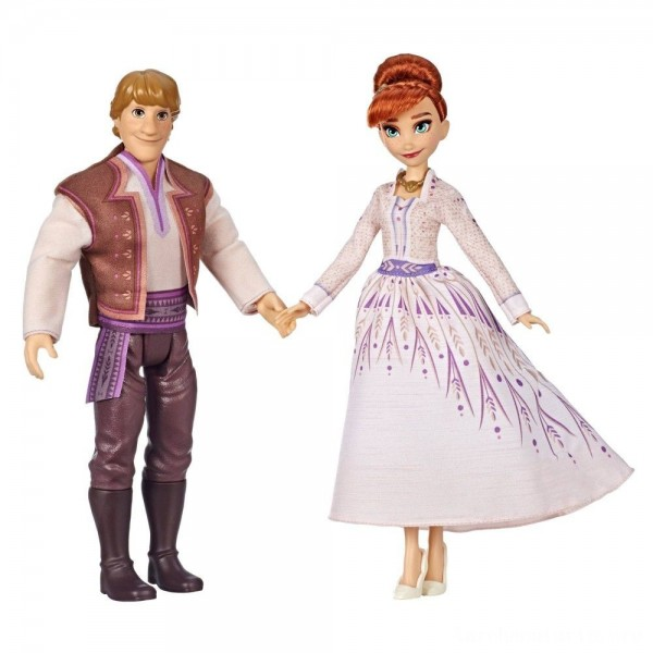 Black Friday - Disney Frozen 2 Anna and Kristoff Fashion Dolls 2pk